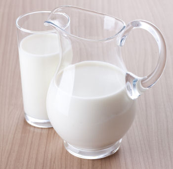 Pitcher and Glass of Milk